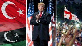 Georgian protests, military parade, Libya and Turkey