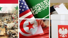 Operation in Syria, US and Saudi Arabia, elections in Tunisia, Poland and Hungary