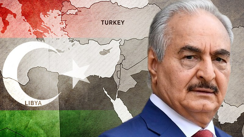 Are Haftar's troops trained by the US?