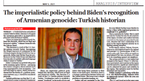"""""""The imperialistic policy behind Biden's recognition of Armenian genocide: Turkish historian"""""""