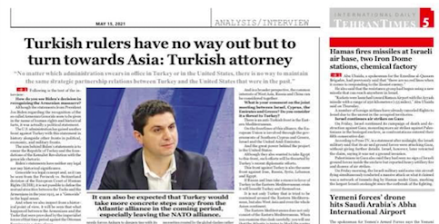 """UWI expert to Tehran Times: """"Turkish rulers have no way out but to turn towards Asia"""""""